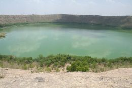 ~ Lonar Crater Lake,India : Unique World heritage site created due to impact of a Meteor (Star)