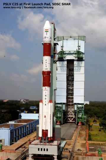 India's PSLV C25 ready to take Mangalyaan Photo:ISRO-India