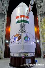 ISRO's PSLV C25 Carrier with Mangalyaan Photo:ISRO-India