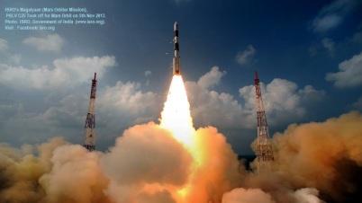 India's rocket taking Mangalyaan - Mars satellite to space 5thNov 2013