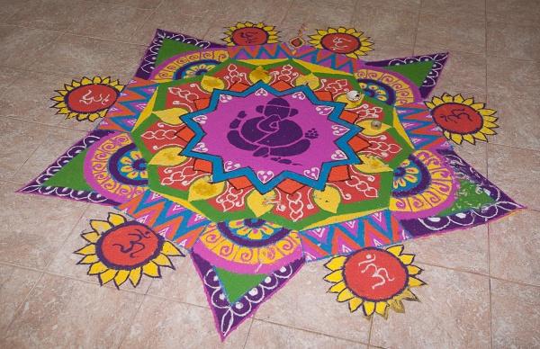 Festival pattern goddess - 2 2