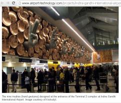 9 Meditation Mudras (hand gestures ) welcome at New Delhi- India Airport