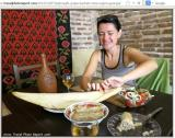 Eating Georgian food with hands....Research says, eating with hands is spiritual and mindful experience...