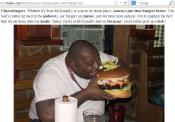 Burger : Size does matter!....Eating with hands improves pleasure of eating...