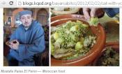 Eating with hand culture also for Moroccan food.....