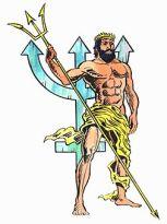 Greek God Neptune Poseidon resemblance Hindu god Lord Shiva with Trishul (Trident) .Photo: Booksfact.com