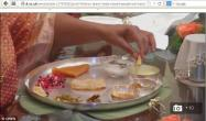Oprah Winfrey eating Indian food