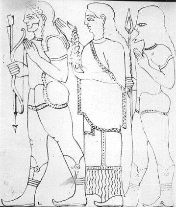Paintings of Lord Rama, Brother Lakshman and wife Sita paintings found in Italy during excavation Photo: Booksfact.com