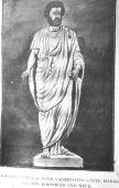 Ancient Greek painting of a local man with U-Shaped tilak (forehead dot) and similar dress like Hindu Yogi / Guru. Photo