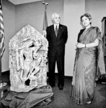 7th century AD Hindu God Vishnu's Statue found at Russia's Volga region during excavation. Idol was found in Staraya Maina village in Ulyanovsk region (this ancient region was highly populated city 1700 years ago.Older than current oldest city Kiev, believed to be mother of all Russian cities). Photo: Booksfact.com
