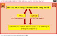 Yajna during Holy Veda Mantra Chanting Combines Heat enregy from Fire & Sound energy from Sanskrit Mantra cahnting to get healing benefits - Blissfull esperence to Mind, Body & Soul