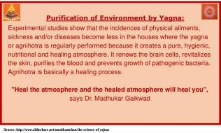 How yajna purifies environment