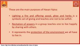 Main purpose of Yajna