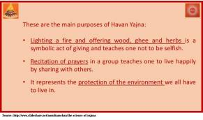 Main purpose of Yajna