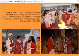 Yajna during Wedding at Parmarth Niketan, Rishikesh