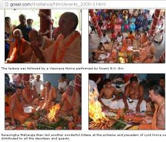 Foreigners Hindu Priests performing Yajna