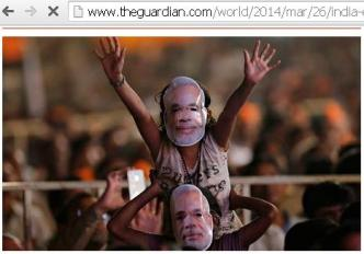 Wearing Mask of favorite leader during his speech