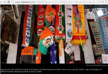 Election shop selling differnt Items