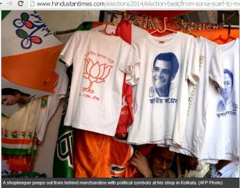 T-shirts of differnt parties