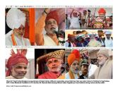 Pagri/Turban is very significant indian tradition. Each community across india has their own style, colour of Pagri. Local leader welcome & honour Pagri/Turban to Big national leader during election campaign in their town