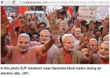 People waring masks during campaign