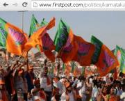 Typical colourful election rally in India