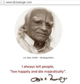 ~ Yoga Guru BSK Iyengar is no more…