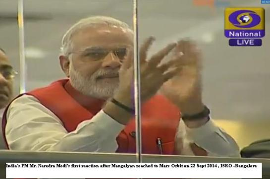First rection by Indias PM Mr. Narendra Modi after historical victory