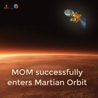 yay! finally history is created...India reached to MArs orbit on 24th sept 2014