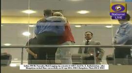 no protocol today.....PM Modi hugging ISRO chif after victory :)