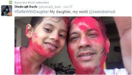India's #SelfieWithDaughter initiative becomes big hit Worldwide