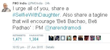 SElfieWithDaughter-Modi