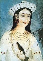 Mastani's beautiful paintings...She commit Suicide in 1740 after hearing news of Bajirao's death
