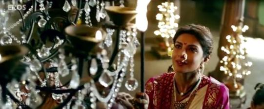 Actor Priyanka chopra as Bajirao's first wife Kashibai