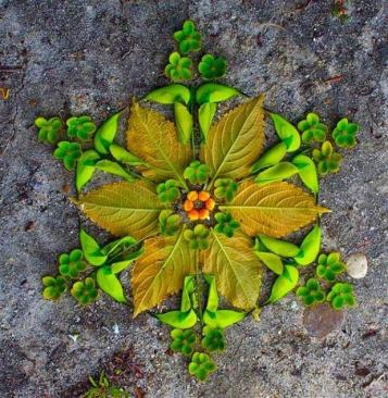 Leaf-Rangoli-Hinduism-India