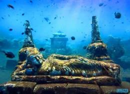 ~ 5000+ years old underwater Hindu Temple at Bali-Indonesia