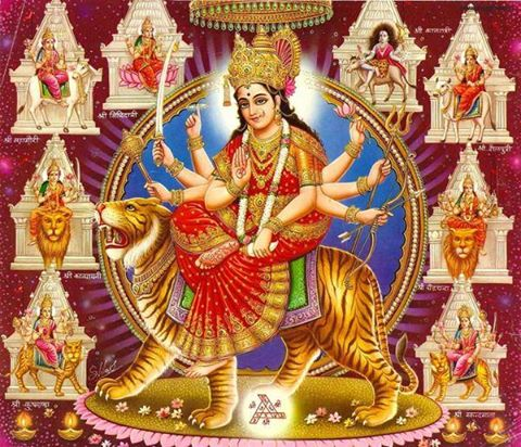 Goddess-Maa-Durga-Hinduism-Navaratri-Celebration