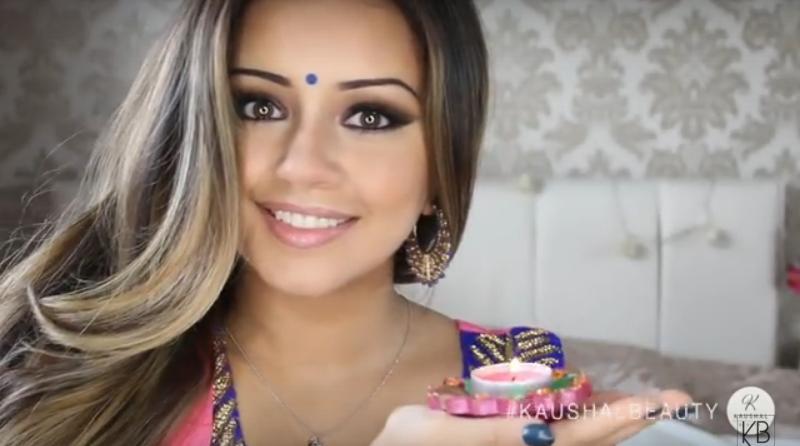 diwali-make-up-india-hindu-woman-Happy-Diwali-Greeting
