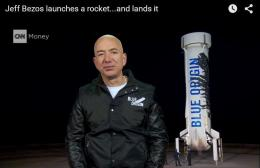 ~ Space Tourism: Jeff  Bezos's Blue Origin Re-Usable Rocket lands successfully