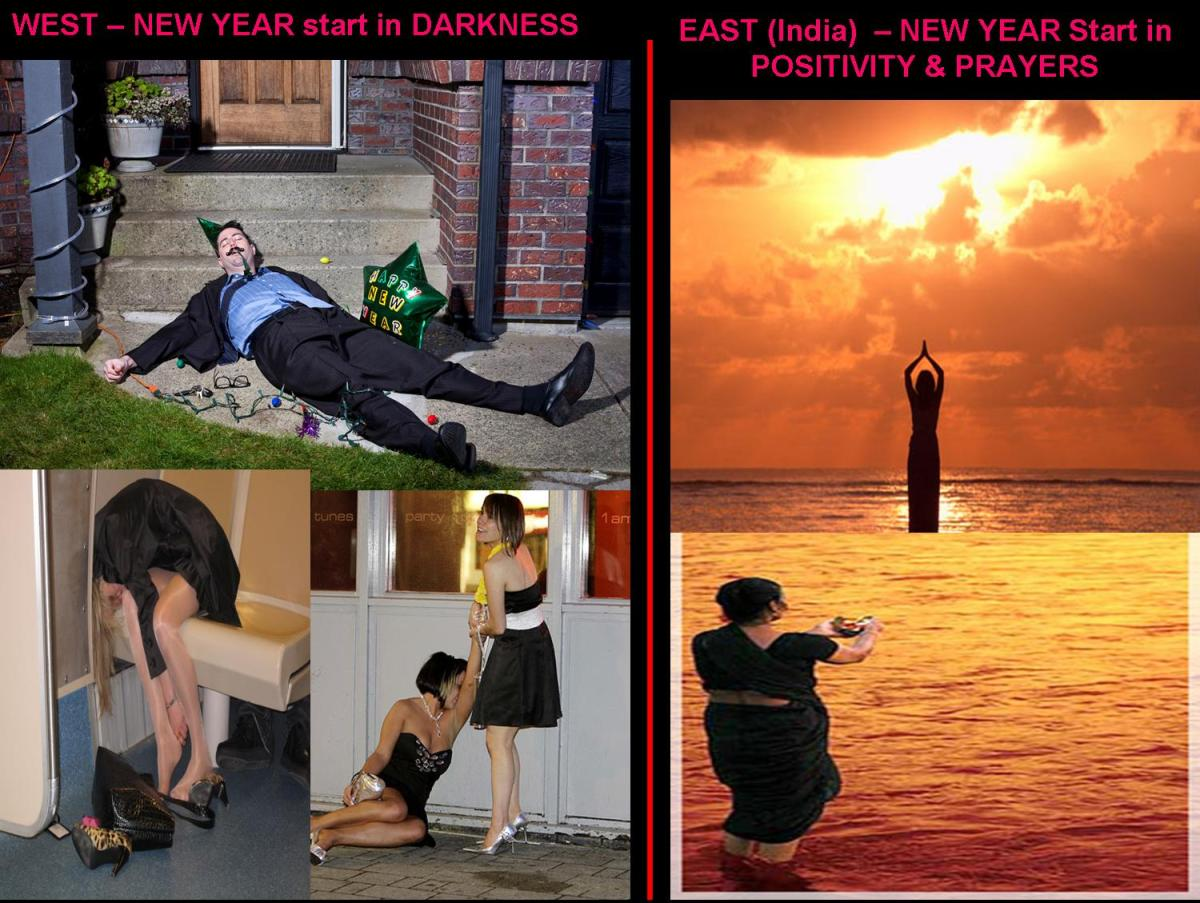 ~  Happy Gregorian New Year : Comparing East Vs West Celebrations