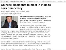 ~ Communist Chinese want Democracy like India?