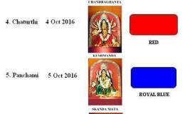 ~ Navaratri 9 Colour Dress Codes for 2016 Goddess DurgaFestival
